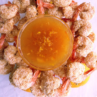 Baked Coconut Shrimp with a Orange Dipping Sauce (gluten free)