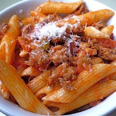 Chicken Sausage Rigatoni in a Spicy Vodka Sauce