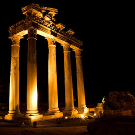 temple of apollo, side, turkey. by Peter Bartlett - Buildings & Architecture Statues & Monuments