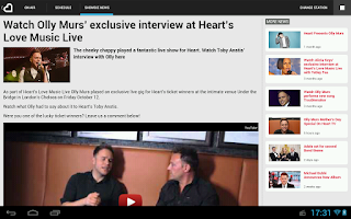 Screenshot of Heart Radio App