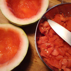 Watermelon Sorbet [Using a food processor, no ice cream maker required]