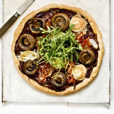Caramelised Red Onion, Prosciutto & Mushroom Tart
