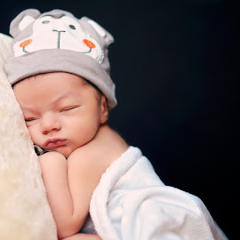 Precious by Darya Enchanted Images - Babies & Children Babies ( dreaming, sleeping, monkey hat, baby, boy, newborn )