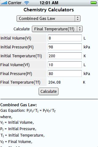 Chemistry Calculators