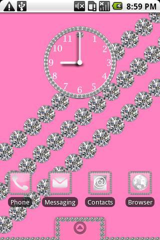 Diamond Theme Pink HD