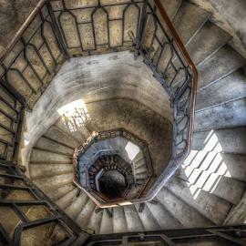 Faro Voltiano by Andrea Conti - Buildings & Architecture Other Interior ( interior, como, spiral staircase, brunate, lighthouse, spiral, voltiano, san maurizio, stairs, italia, staircase, upstairs, italy, faro )