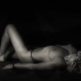 Shadows by Rucsandra Calin - Uncategorized All Uncategorized ( nude, woman, bw, solitude, shadows )