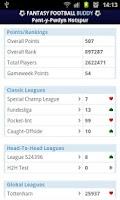 Screenshot of Fantasy Football Buddy