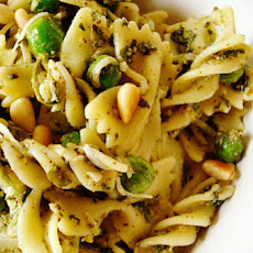 Pesto Pasta Salad with Peas and Parmesan