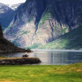 Norwegian fjords by Janne Monsen - Landscapes Mountains & Hills ( sogn, flåm, flåmsbana, bryggeri, norway )