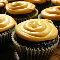 Chocolate Cupcakes with Caramel Frosting