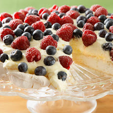Pavlova with Lemon Curd and Fresh Berries Recipe