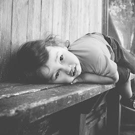 Son by Jenny Hammer - Babies & Children Children Candids ( child, bench, cute, boy, kid )