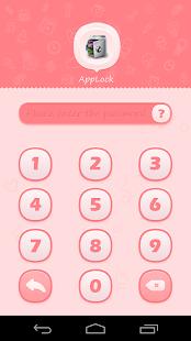 App AppLock Theme Pink apk for kindle fire