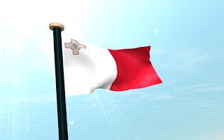 Screenshot of Malta Flag 3D Free Wallpaper