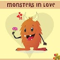 Go LauncherEx Monsters in love icon