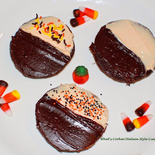 Halloween Half Moon Cake Mix Cookies