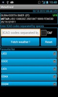 Screenshot of MetarDroid Lite (Metar -Taf )