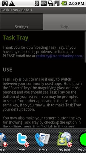 Task Tray - Beta