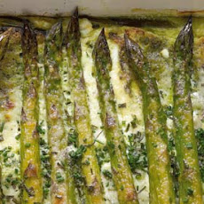 Asparagus And Chive Bread Pudding