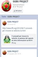 Screenshot of GGBU fanpage