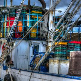 Detail from fishing boat by Siniša Biljan - Transportation Boats