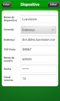 Screenshot of Luxvision Mobile