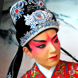 Chinese Operatic Groom Head Gear by Alan Chew - Artistic Objects Clothing & Accessories