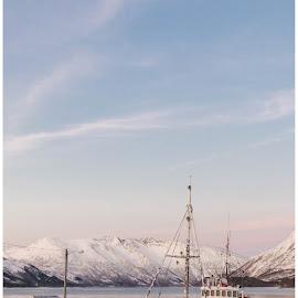 Veslegut by Bjørnar Røtting - Transportation Boats ( winter, ship, sescape )