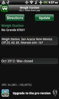 Screenshot of Weigh - Truck Weigh Stations
