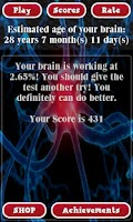 Screenshot of Brain Age Test Free