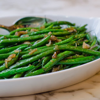 French String Beans with Shallots