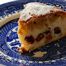 Pear and Dried Cherry Frangipane Cake