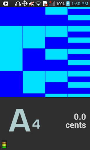 Peterson iStroboSoft Tuner - screenshot
