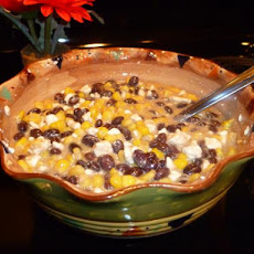 Corn and Black Bean Salsa With Feta Cheese