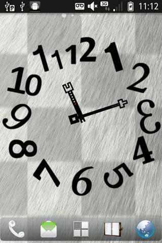 凸凹アート時計ウィジェット