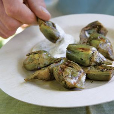 Artichokes with Meyer Lemon Aioli