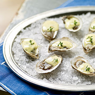 Warm Oysters with Champagne Sabayon