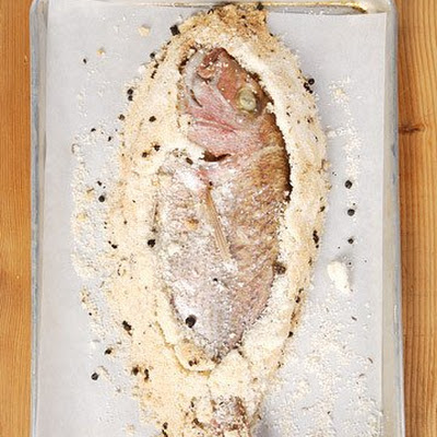 Sea Salt-Crusted Pink Snapper with Ice Wine Nage