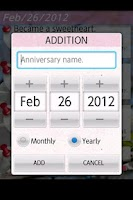 Screenshot of Anniversary Checker