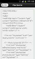Screenshot of HTML5 Mobile App Study