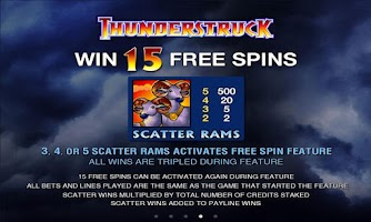 Screenshot of ThunderStruck Slot