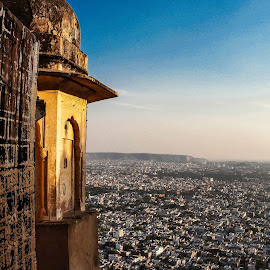 View from top by Pallavi Parab - City,  Street & Park  Skylines ( pallavi parab, rajasthan, nahargarh fort,  )