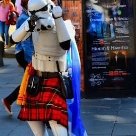 Angry looking storm trooper by Nic Scott - People Musicians & Entertainers ( storm trooper, fancy dress, costume,  )