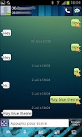 Screenshot of Go Sms Ray blue theme