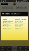 Screenshot of Silver and Gold Price  Free