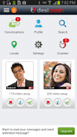 Screenshot of DesiCrush Indian Dating App