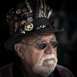 Doc Hawks by Adam Stocker - People Portraits of Men ( eccentric, patron, texas, san antonio, bar, portrait, character )