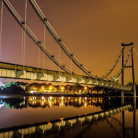 by BoNn Mailin - Buildings & Architecture Decaying & Abandoned ( lights, lake, bridge, nightscape, decay )