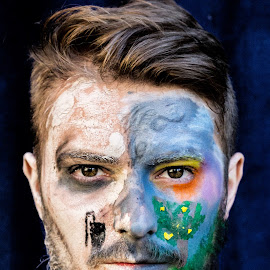 P by Andi Topiczer - People Portraits of Men ( contrast, portret, denisa rk, pollution, andi topiczer, facepainting, portrait )